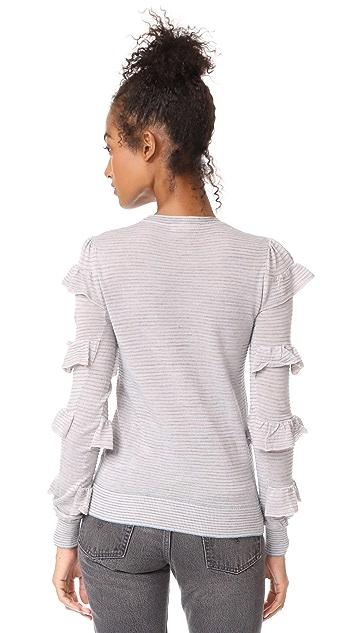 Rebecca Taylor Delicate Ruffle Sweater