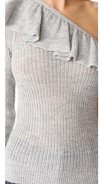Rebecca Taylor Ruffle Pullover Sweater