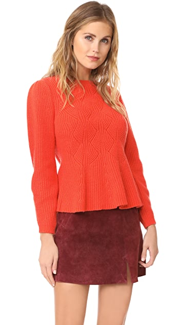 Rebecca Taylor Textured Rib Pullover Sweater