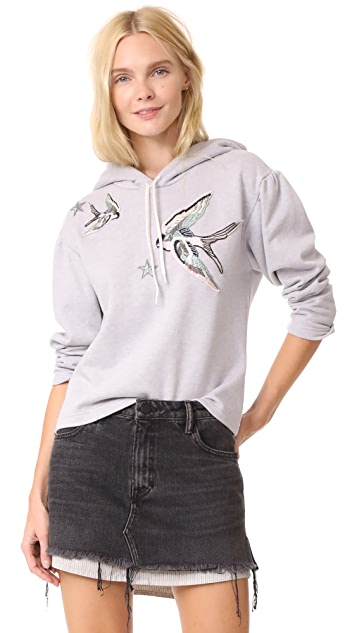 Rebecca Taylor Embellished Hoodie Pullover