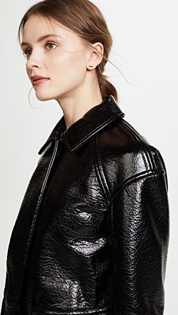 Rebecca Taylor Textured Vegan Leather Jacket