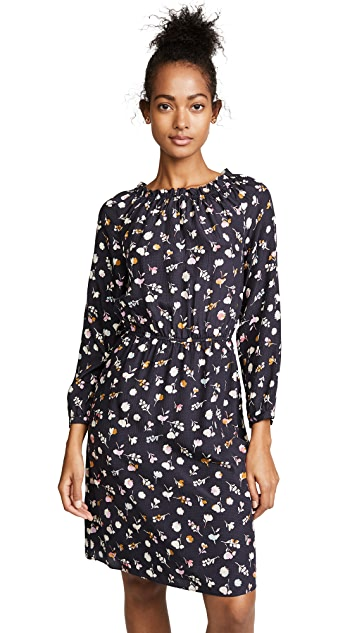 Rebecca Taylor Long Sleeve Holly Flower Dress