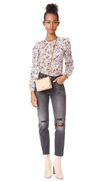 Rebecca Taylor Long Sleeve Ruby Floral Top