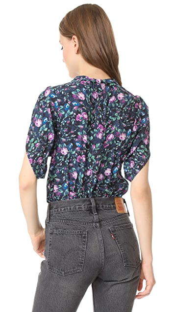 Rebecca Taylor SS Ruby Floral Top