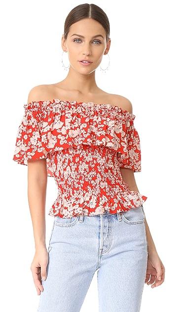 Rebecca Taylor Cherry Blossom Top