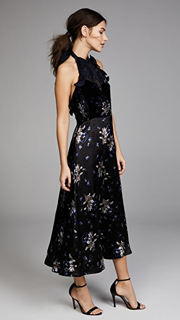 Rebecca Taylor Sl Violet Vel Dress