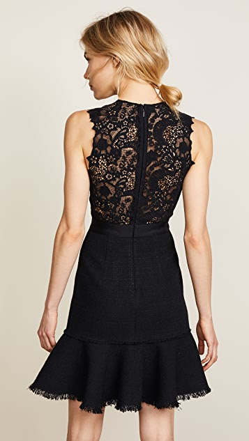 Rebecca Taylor SL Tweed & Lace Dress
