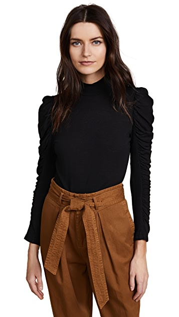 Rebecca Taylor Ruched Jersey Top