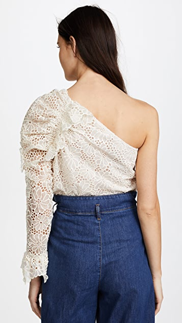 Rebecca Taylor Malorie One Shoulder Top