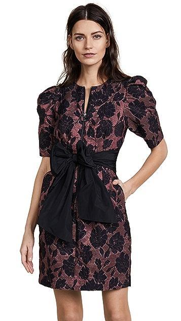 Rebecca Taylor Short Sleeve Brocade Dress