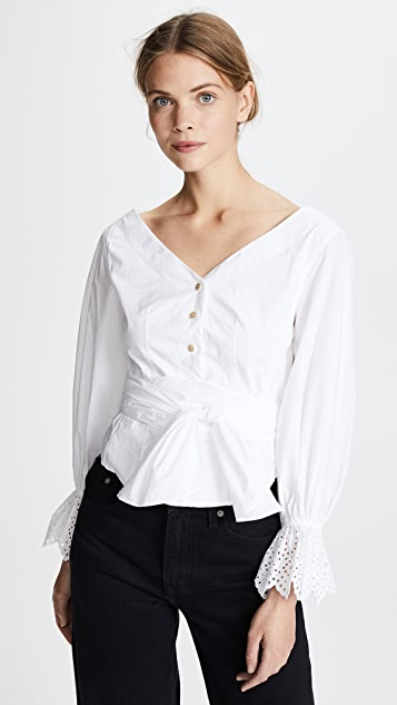Rebecca Taylor Long Sleeve Pop Top