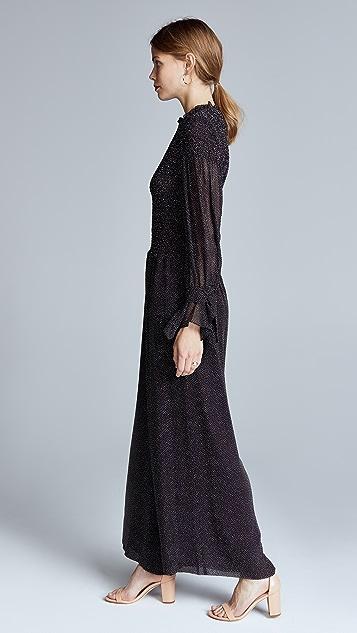 Rebecca Taylor Long Sleeve Pebble Jumpsuit