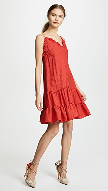 Rebecca Taylor Sleeveless Silk Slip Dress