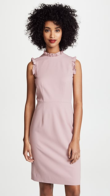 Rebecca Taylor Sleeveless Spring Ruffle Dress