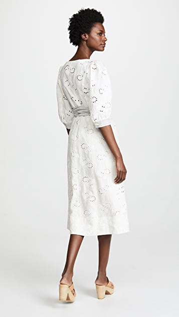 Rebecca Taylor Garden Eyelet Dress with Short Sleeves
