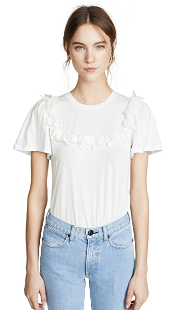 Rebecca Taylor Short Sleeve Mariana Jersey Top