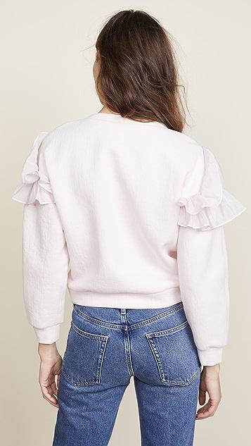 Rebecca Taylor Ruffle Sweatshirt