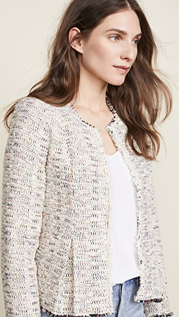 Rebecca Taylor Rainbow Tweed Jacket