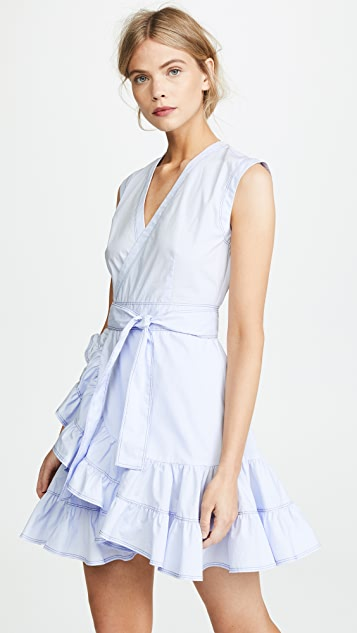 Rebecca Taylor Sleeveless Poplin Wrap Dress