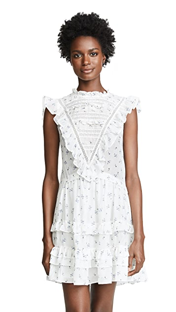 Rebecca Taylor Sleeveless Sprig Floral Dress
