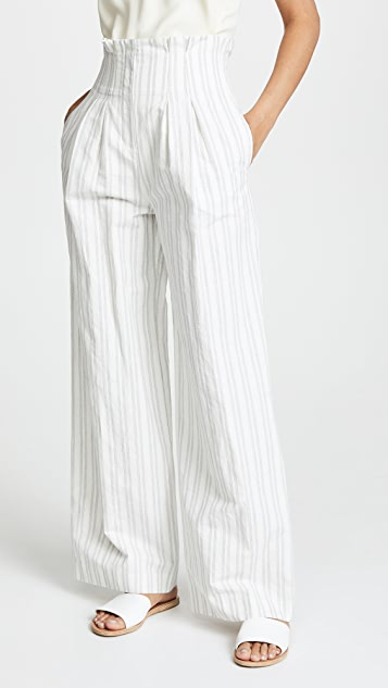 Rebecca Taylor Striped Suit Pants