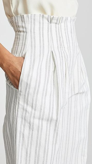 Rebecca Taylor Брюки из костюмной ткани в полоску