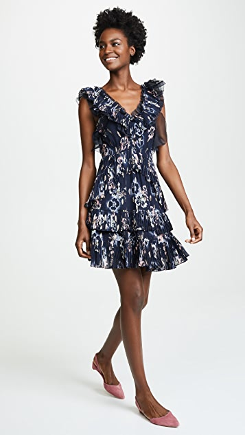 Rebecca Taylor Sleeveless Faded Floral Dress