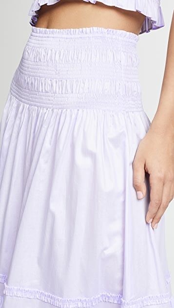 Rebecca Taylor Ruffled Smock Skirt