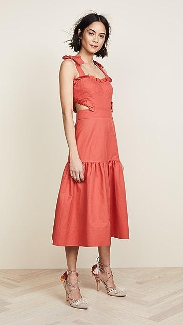8a075fed83a Rebecca Taylor Sleeveless Cotton Midi Dress