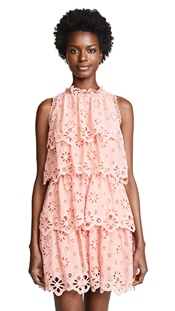 Rebecca Taylor Sleeveless Pinwheel Dress