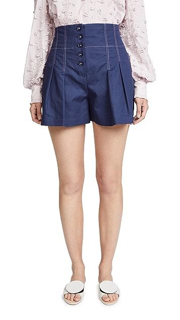 Rebecca Taylor Linen Blend Shorts