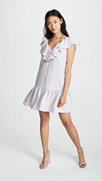 Linen Ruffle Dress by Rebecca Taylor