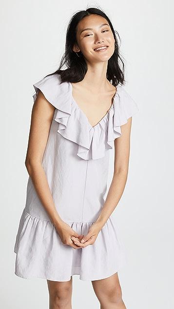 Rebecca Taylor Linen Ruffle Dress