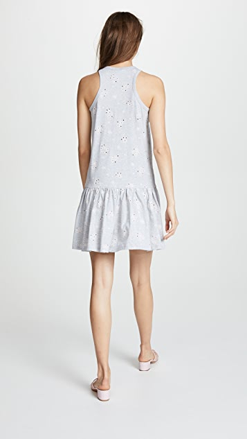 Rebecca Taylor Embroidered Jersey Dress