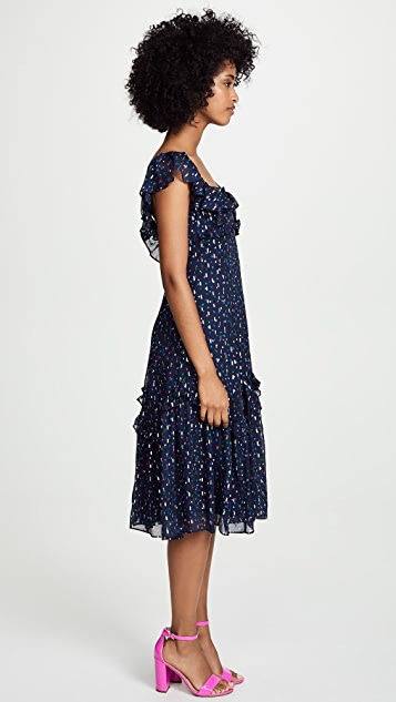 Rebecca Taylor Sleeveless Speckled Dot Dress