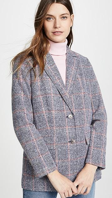 Rebecca Taylor Tweedy Plaid Blazer