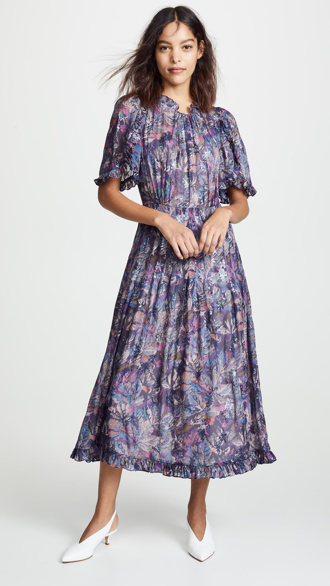 Rebecca Taylor Short Sleeve Floral Dress