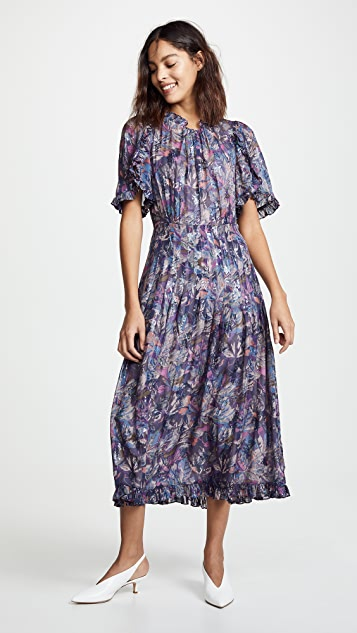 Rebecca Taylor Short Sleeve Floral Dress