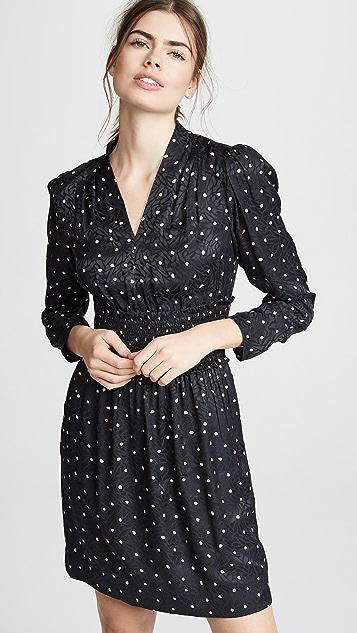 Rebecca Taylor Long Sleeve Paint Dot Dress