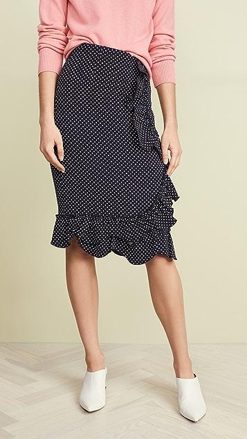 Rebecca Taylor Dot Ruffle Skirt