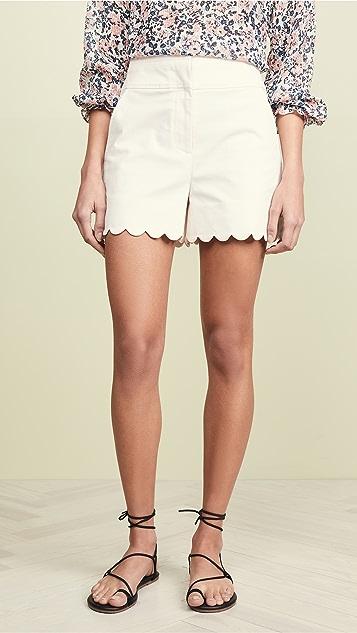 57dbfc1775179 Rebecca Taylor Scalloped Shorts | SHOPBOP