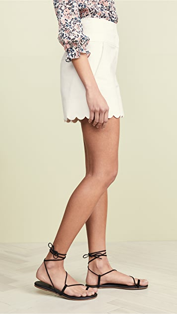 Rebecca Taylor Scalloped Shorts