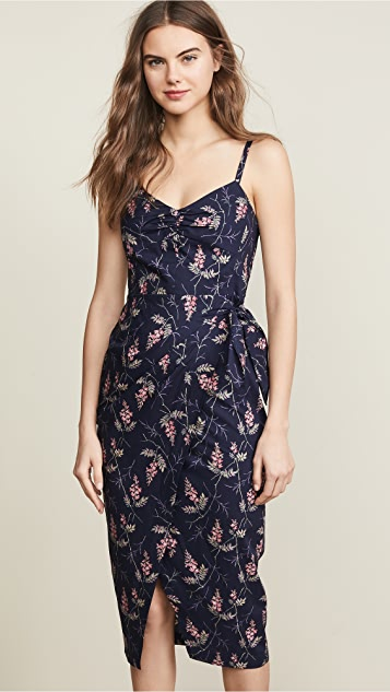 Rebecca Taylor Sleeveless Ivie Wrap Dress