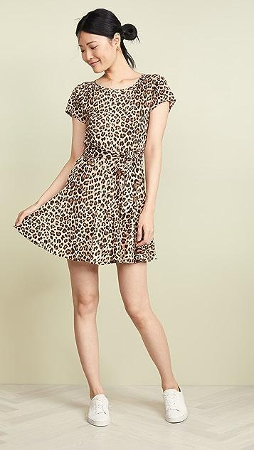 Rebecca Taylor Linen Leopard Jersey Dress