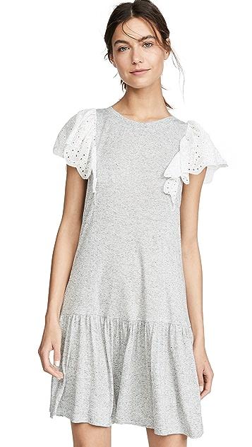 Rebecca Taylor Sleeveless Eyelet Jersey Dress