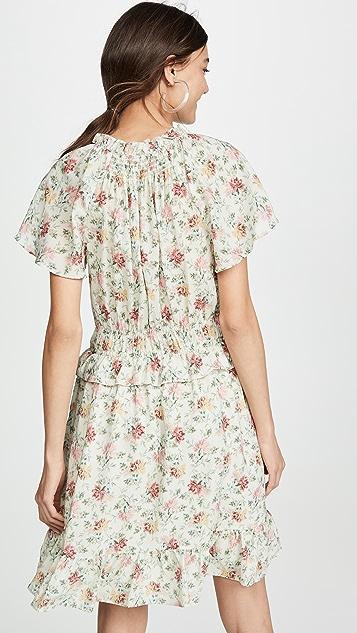 Rebecca Taylor Sleeveless Carnation Dress