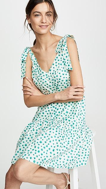 Rebecca Taylor Платье без рукавов Emerald с принтом в виде маргариток