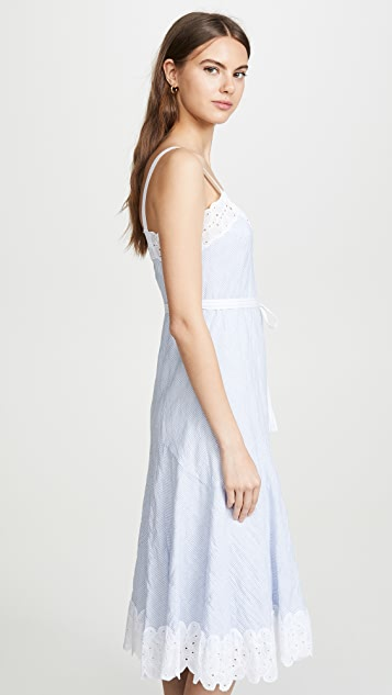 Rebecca Taylor 无袖条纹背心连衣裙