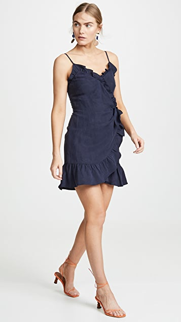 Rebecca Taylor Sleeveless Linen Wrap Dress