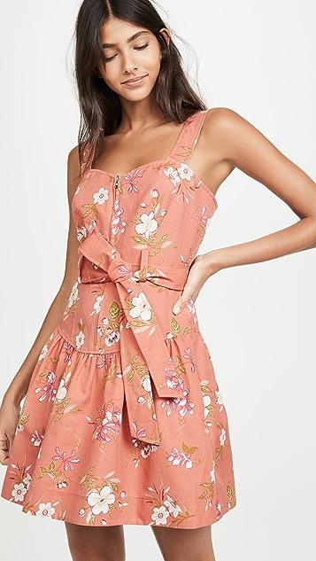 Rebecca Taylor Льняное платье Lita без рукавов